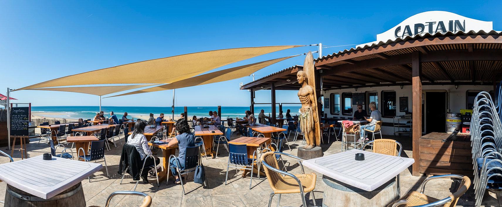 Terrasse Captain Bar Restaurant Vieux Boucau