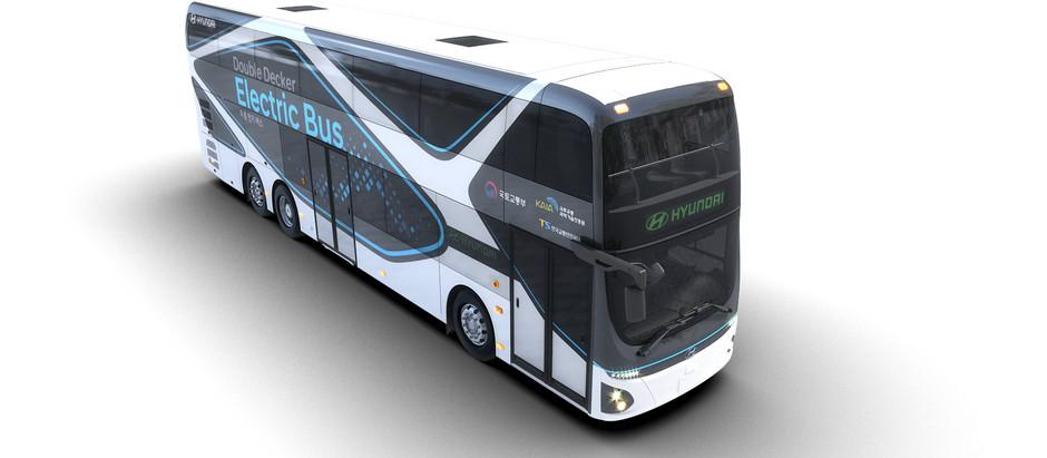 Hyundai представила двухэтажный электроавтобус