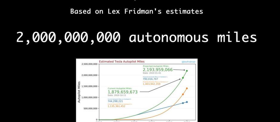 Автопилот от Tesla  преодолел 2 млрд миль