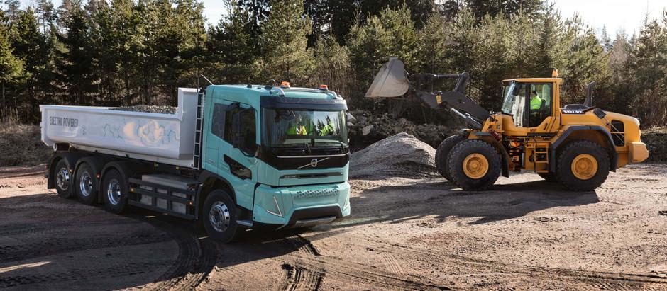 Volvo демонстрирует свою линейку большегрузных электрических грузовиков