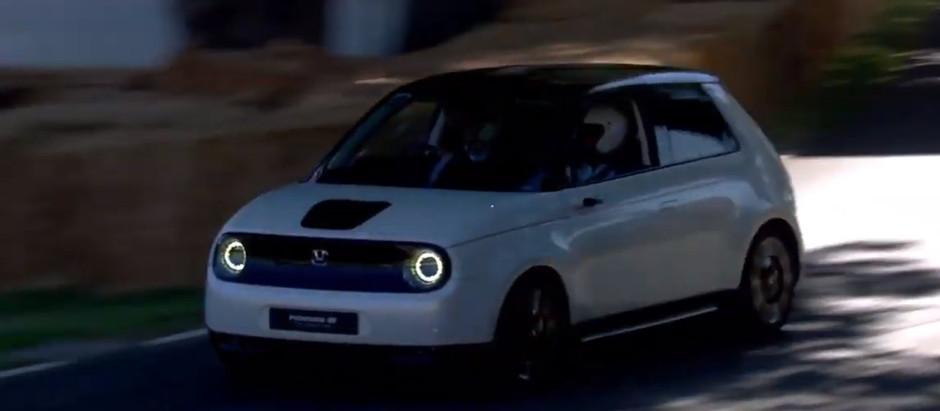 Honda дебютировала свой электрокар E на фестивале скорости в Гудвуде