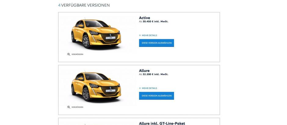 В Германии объявлены цены на Peugeot e-208