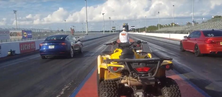 BMW M5 против Tesla Model 3