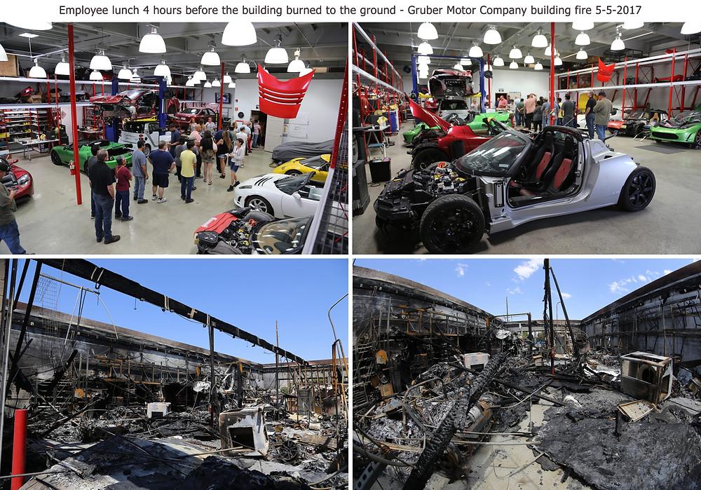 До и после пожара :