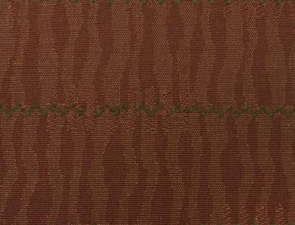 Orange Waves and Green Stripe