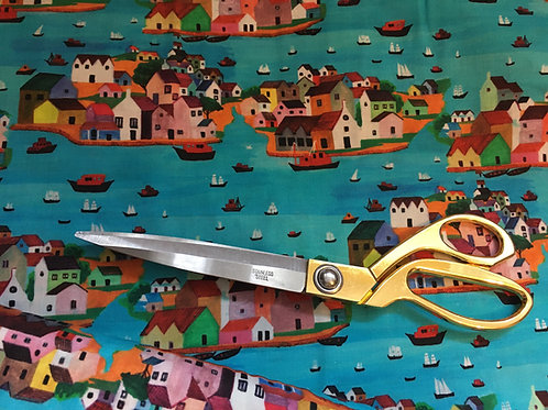 Burano seaside houses fabric