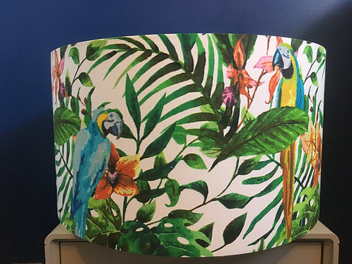 Tropical parrot lampshade