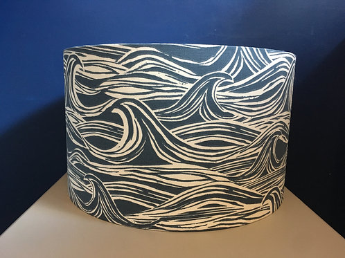 dark blue sea wave lampshade