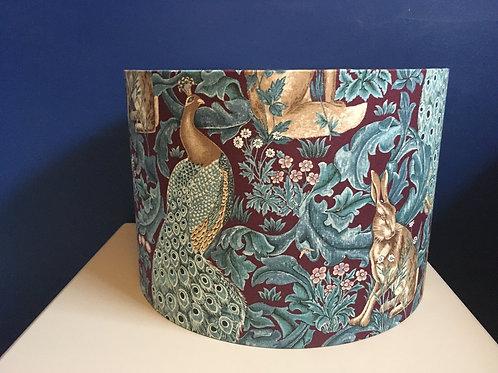 William Morris Forest lampshade in plum
