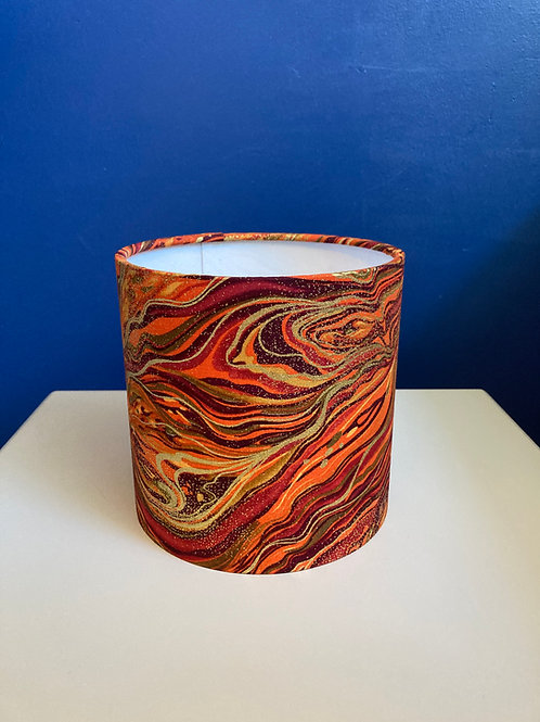 Dark orange & gold marbled shade (15cm XS) shade for ceilings AN