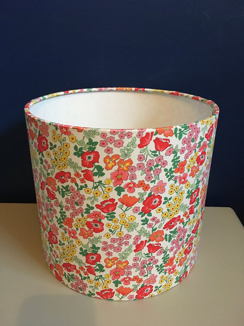 Red and orange floral shade (20cm S)
