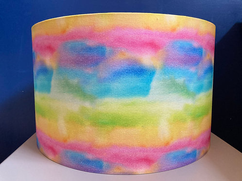 Rainbow watercolour (35cm M/L) shade for ceilings OR lamp