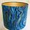 Thumbnail: Teal & gold marbled lampshade