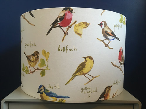 Watercolour birds lampshade