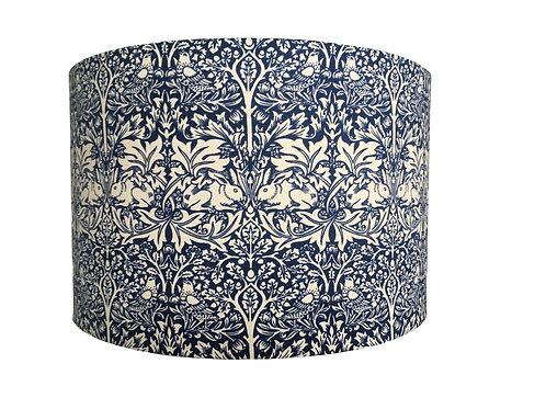 William Morris Brother Rabbit lampshade in blue