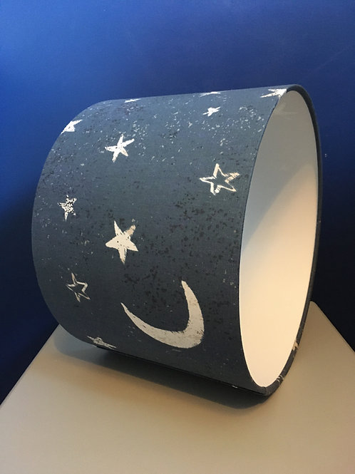 Space moon and stars lampshade