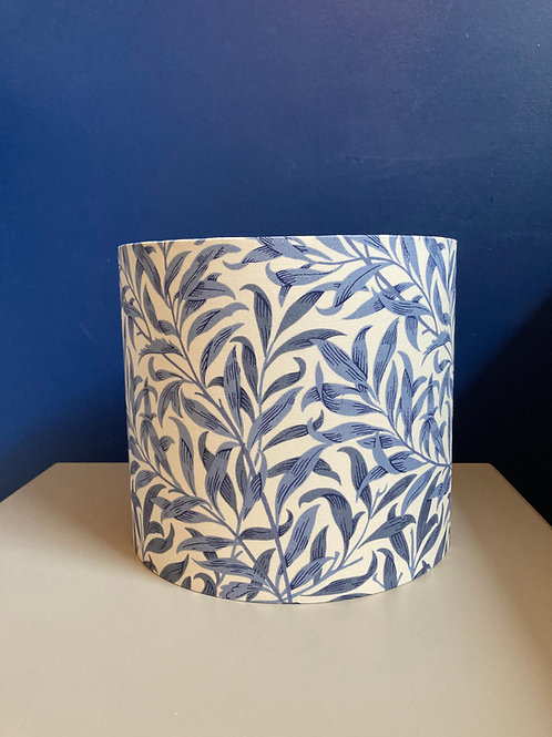 William Morris Willow Bough lampshade in blue & white