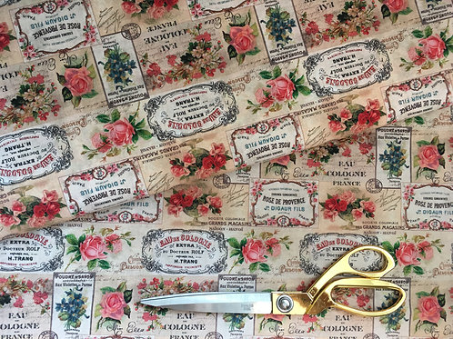 French vintage Paris fabric by Stof France
