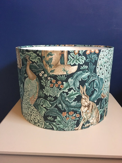 William Morris Forest lampshade in teal