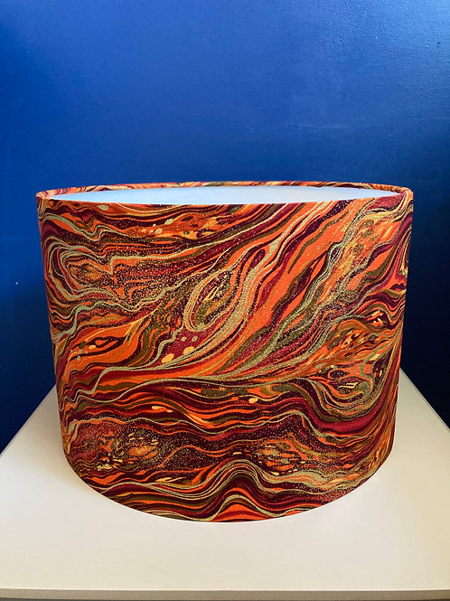 Dark orange & gold marbled shade (30cm medium) shade for ceilings AND lamps