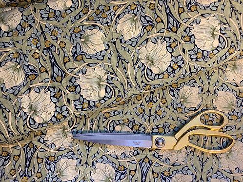 William Morris Pimpernel fabric in navy & green