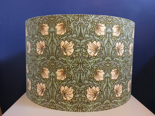 William Morris Pimpernel lampshade in sage green & ivory
