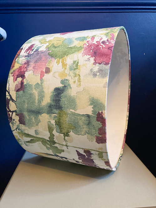 purple and green watercolour trees lampshade
