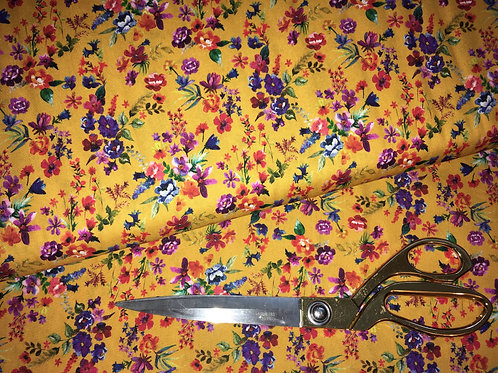 Amaia mustard floral fabric