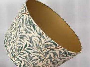 William Morris Willow Bough lampshade in green & ivory