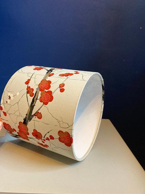Grey Japanese blossom lampshade
