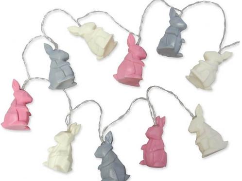 Origami rabbit string lights