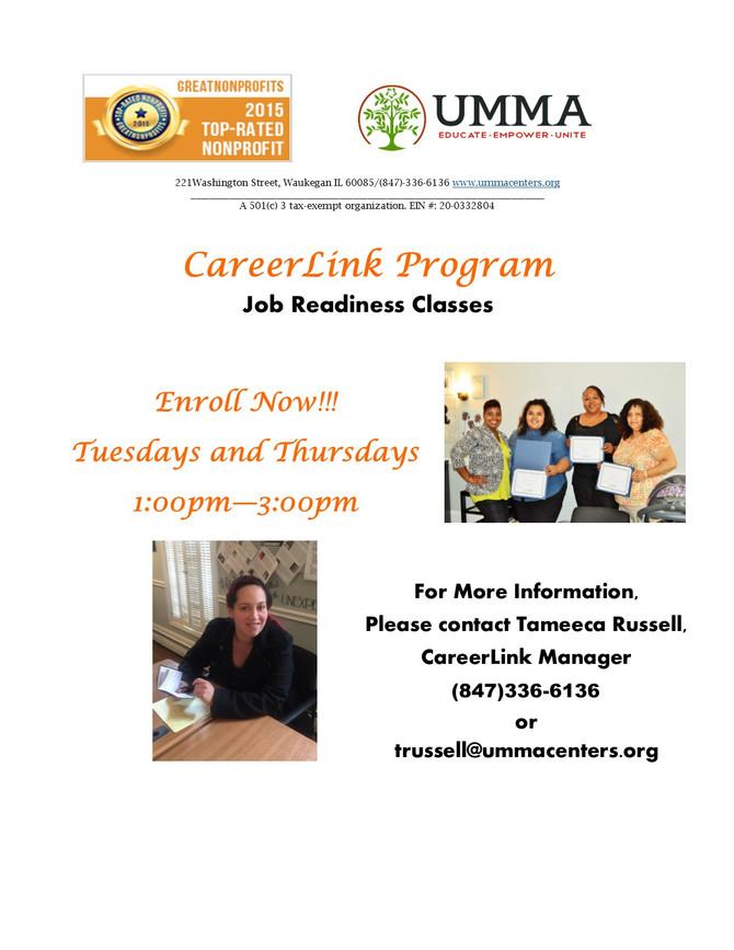 CareerLink Job Readiness Classes Begins April 4th!!!