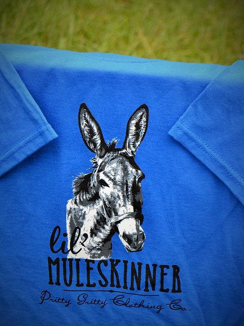 """""""Lil' Muleskinner"""" Kids / Blue & Pink Tee"""