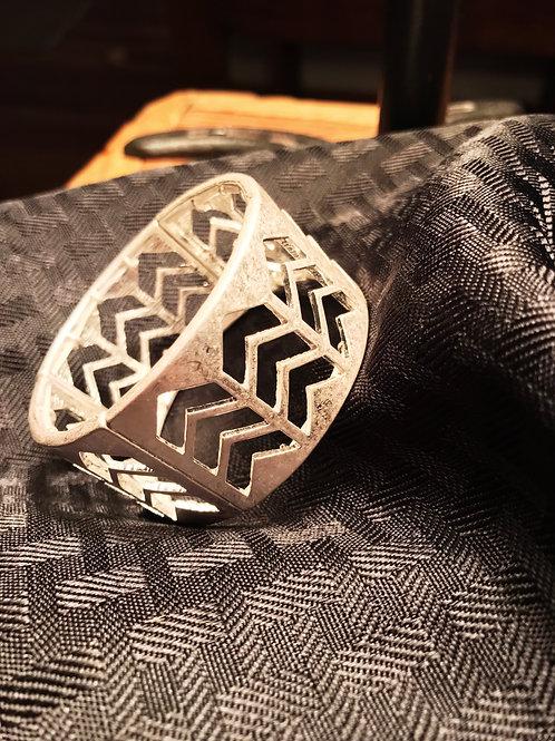 Aztec silver bracelet