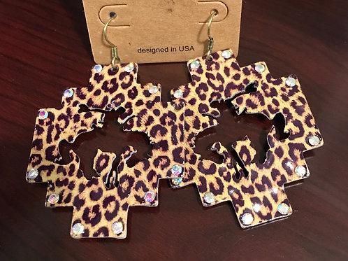 copy of Bronc Earrings-Cheetah print
