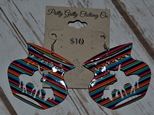 Multi-Color End of the Trail Earrings