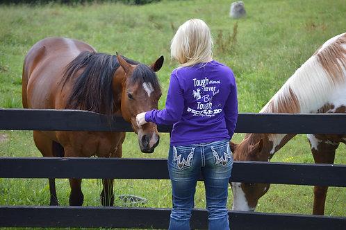 """Tough Times Never Last..."" Purple Long Sleeve T-Shirt"