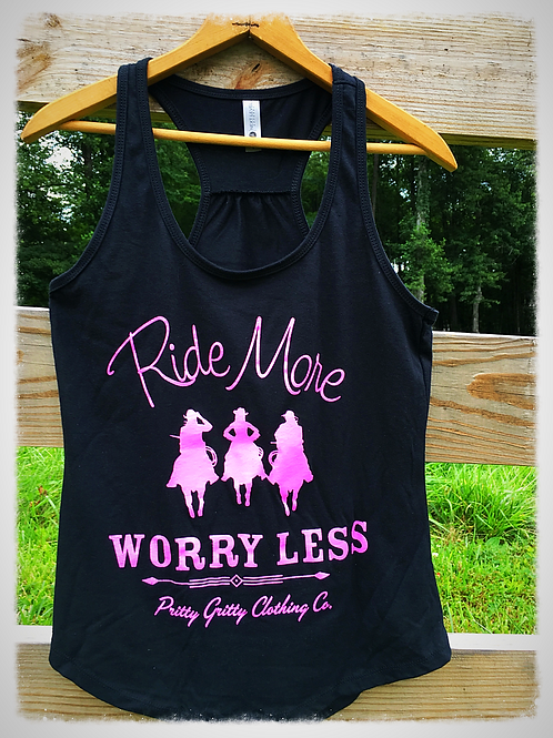 """Ride More, Worry Less"" Tank"