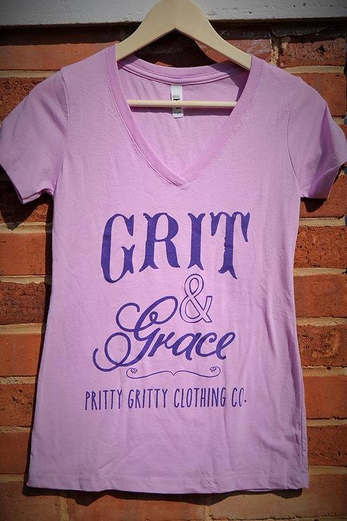 Grit & Grace Lavender Tee