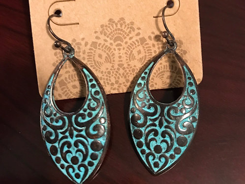 Copper and Turquoise colored earrings