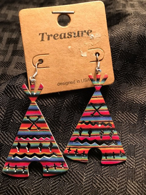 Tee Pee Multicolor Earrings