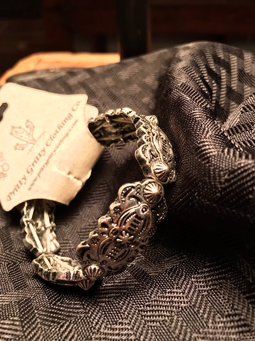 Western silver bracelet