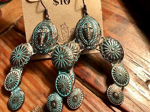 Copper Western Earrings