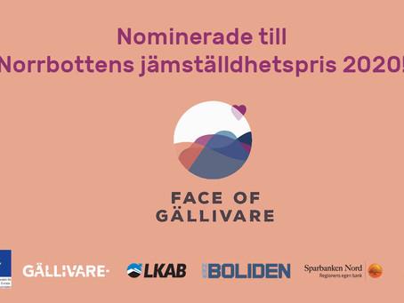 Face of Gällivare nominerade till fint jämställdhetspris