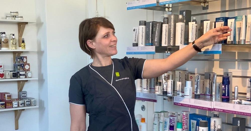 Sabine Miszler, ägare av Casa di Beauty i sin nya lokal på Olof Bergqvistgatan 4 i centrala Gällivare.