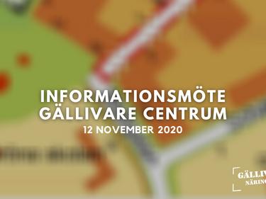 Inspelning av informationsmötet om Gällivare centrum