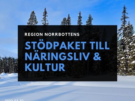 Region Norrbotten - stödpaket till näringsliv och kultur