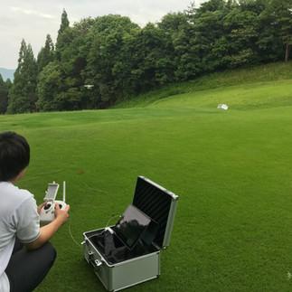 ドローンでゴルフ場を試し撮り!!