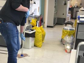 Erasmus student Daniel leaves the lab