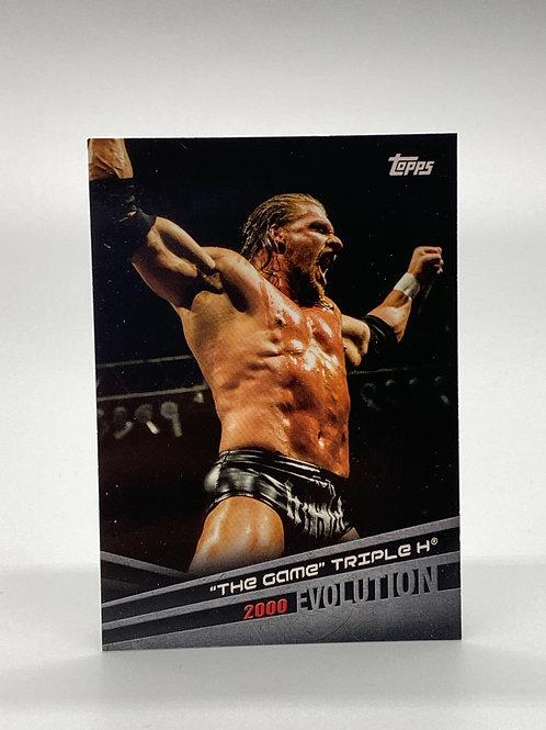 WWE Topps 2018 Evolution The Game Triple H #E-43